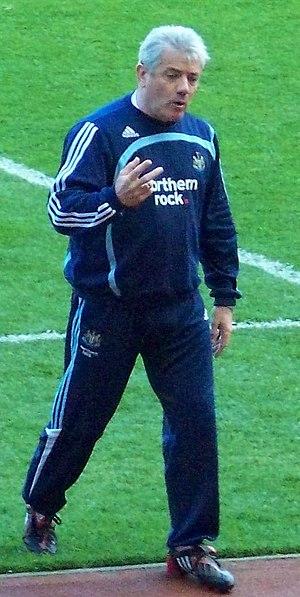English football (soccer) manager Kevin Keegan