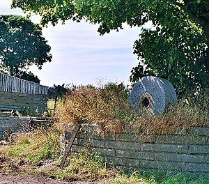 Millstone at Ramsgreave Hall Farm. Unworn mill...