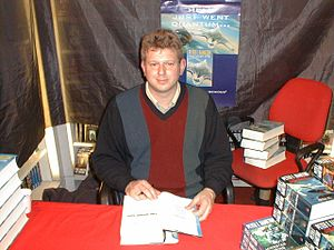 filedesc Peter F. Hamilton signing his Night's...