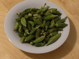 Plate of okra