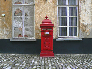 Postoffice box, Oud Kerkhof 13, in the beautif...
