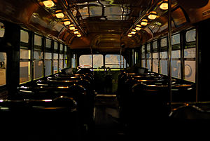 English: Interior The No. 2857 bus which Rosa ...