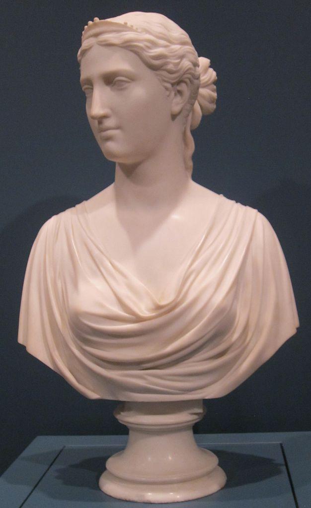 File Ginevra Marble Bust By Hiram Powers Cincinnati