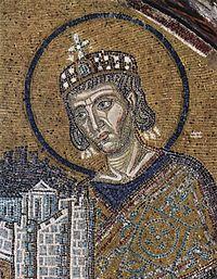 Ο Άγιος Κωνσταντίνος, μωσαϊκό στον ιερό ναό της Αγίας Σοφίας στην Κωνσταντινούπολη