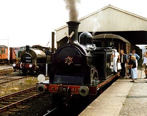 Caledonian Railway engine 419 at the Bo'ness a...