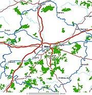 Carte de la Sarthe
