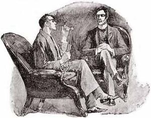 Illustration of the Sherlock Holmes short stor...