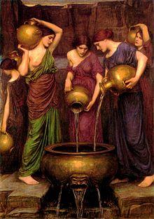 Les Danaïdes par John William Waterhouse, 1903.