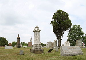 Evans City cemetery in 2007, a filming locatio...