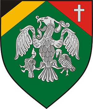 Coat of arms of Rakamaz, Hungary
