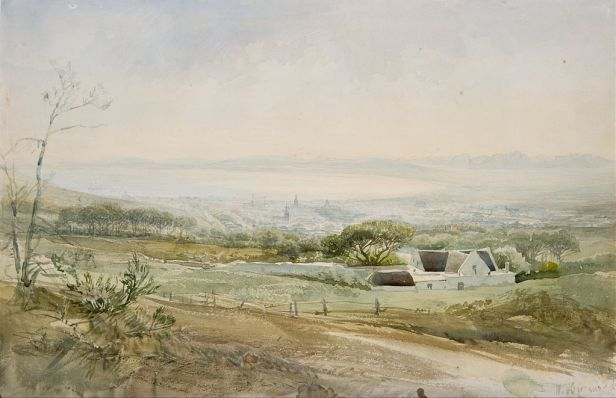 Heinrich Hermann - Cape Town from the Top of Kloof Street