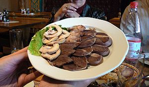 A platter of horse meat served at Kishlak, an ...
