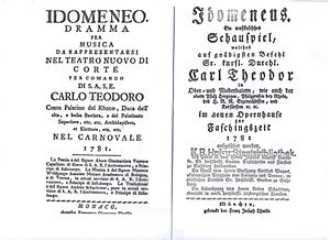English: Italian and German title pages of the...
