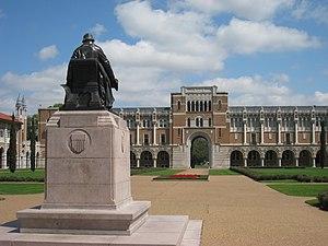 Rice University, Houston, Texas, USA - Statue ...