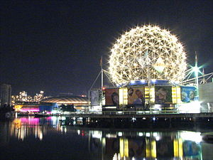 Science World at Night, long exposure, Vancouv...