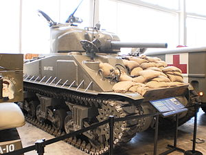 English: Sherman Tank at WWII Museum in New Or...