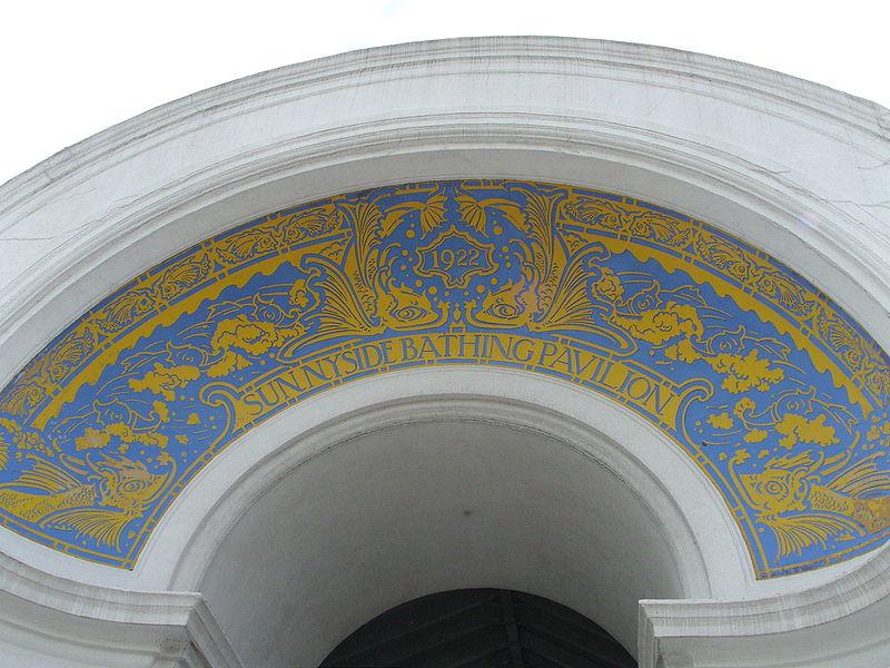 Sunnyside Bathing Pavilion, archway detail