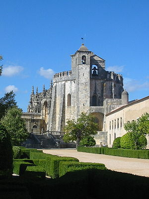 Convent of Christ in Castle Tomar, Portugal. B...