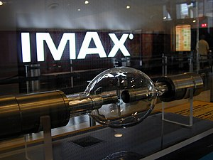The 15 kW Xenon short-arc lamp used in IMAX pr...
