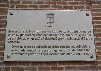 Plaque in memory of the casualties in the 11-M...