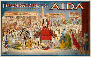 1908 poster for Giuseppe Verdi's Aida, perform...