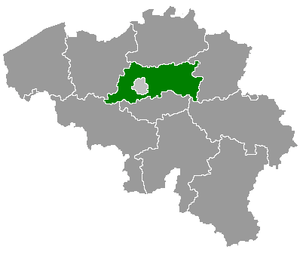 Map of Belgium with the 3 regions togheter , w...