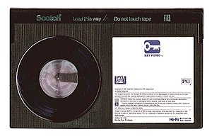 This a picture that I took of a Betamax Tape. ...