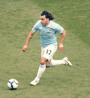 Carlos Tévez playing for Manchester City