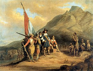 Jan van Riebeeck arrives in Table Bay in April...