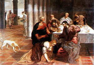 Jesus at the house of the Pharisean, by Jacopo...