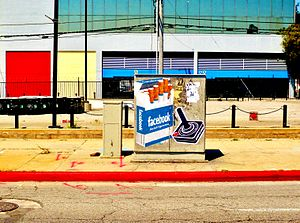 A graffiti work found on La Brea Avenue, Los A...