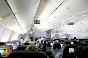 767-400ER economy cabin.
