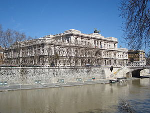 Français : Le Palazaccio à Rome siège de la Co...