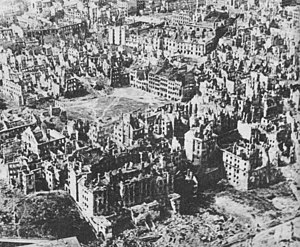 English: Destroyed Warsaw, the capital of Pola...