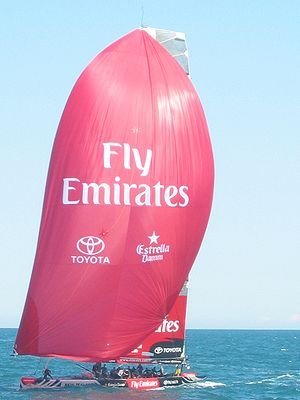 Emirates Team New Zealand (ETNZ) during the Lo...