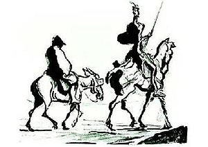 Don Quixote and Sancho Panza by Honoré Daumier.