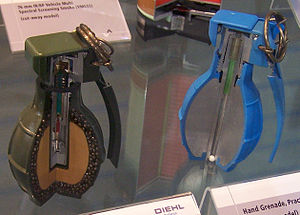 Cutaway view of fragmentation hand grenade DM6...