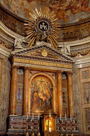 Main altar of the Gesù, Rome, Italy.