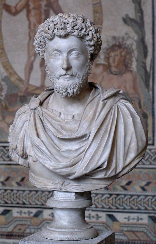 Bust of Marcus Aurelius (reign 161–180 CE).