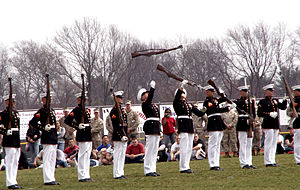 English: The Marine Corps Silent Drill Team.Fr...