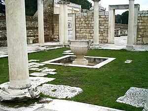 Sardis synagogue courtyard