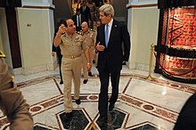 US Secretary of State Kerry meets with el-Sisi in Cairo