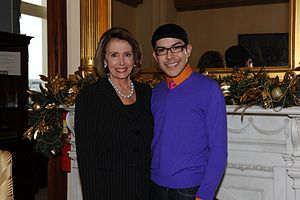 Speaker Pelosi and Mondo on World AIDS Day.
