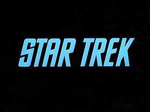 English: Star Trek Original Series title letters.
