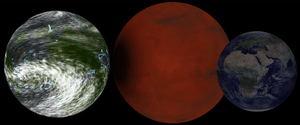 "English: Hypothetical ""super earth"" ..."