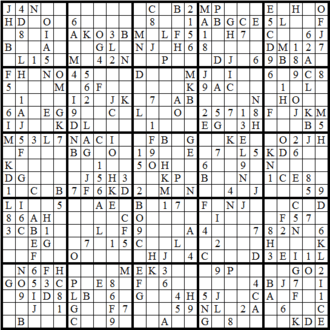 how to play sudoku with letters and numbers