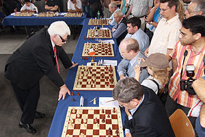 English: World Chess Champion Boris Spassky, F...