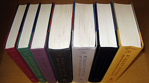 All seven books in the Harry Potter series in ...
