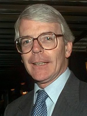 former British PM John Major in the Terme Hote...