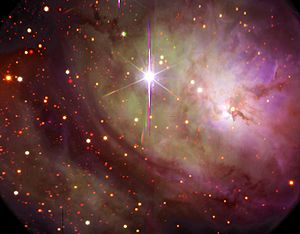 Central region of the Lagoon Nebula, showing t...